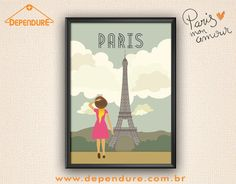 Ter Paris dentro de casa ficou fácil com esse poster lindíssimo! Vai lá na Dependure para conferir e se apaixonar!  www.dependure.com.br