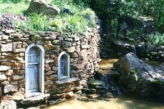 whimsical stone house