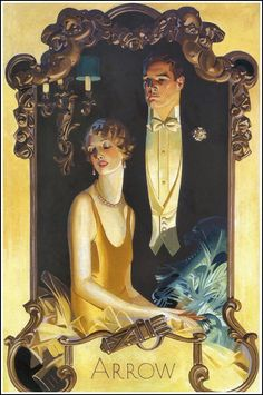 Arrow Collars and Shirts ad, 1920's JC Leyendecker