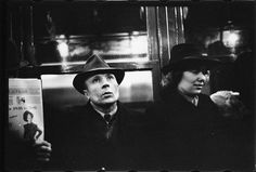 Walker Evans | [Subway Passengers, New York City: Man in Hat Next to Woman] | The Met