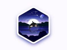 Killer whale badge by Julien