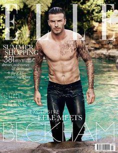 David Beckham Erupts All Over Elle UK!