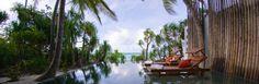Staying at Anantara Kihavah Villas Maldives: Outdoor Pool Of Anantara Kihavah Villas With Sunbed