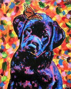 "Auction item 'Beautiful John Bramblitt Painting ""Little Echo""' hosted online at 32auctions."