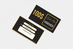 Gold Gift Voucher @creativework247