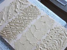 Структурная паста и акриловый контур своими руками Decoupage Tutorial, Collage Art Mixed Media, Pasta, Paper Houses, Texture Painting, Master Class, Stencils, Polymer Clay, Diy And Crafts