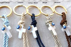 Items similar to 10 pcs Evil eye keychain baptism favors martyrika for boy and girl on Etsy Silver Wedding Favors, Homemade Wedding Favors, Creative Wedding Favors, Inexpensive Wedding Favors, Cheap Favors, Wedding Gifts For Guests, Personalized Wedding Favors, Wedding Party Favors, Bridal Shower Favors