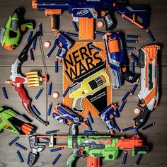NERF WAR - Tell everyone to bring a Nerf gun and play capture the flag, last man standing, re-spawn, guys vs girls, humans vs zombies, etc. To create obstacles, you can use stacks of chairs, tables on their sides, and that old ping pong table you have in storage.
