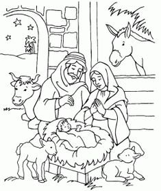 christmas coloring pages - Nativity Coloring Pages Printable