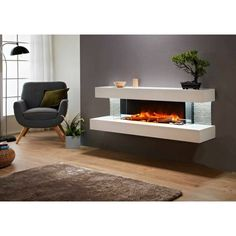 Evolution Fires Vegas 72 Electric Fireplace Wall Mount With Mantel, Ultra Modern Style Easy To Install! Home, Fireplaces For Sale, Fireplace Design, Luxurious Bedrooms, Living Room Design Modern, Modern Rustic Homes, Living Room Designs, Rustic Home Interiors, Modern Fireplace