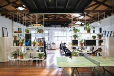 """Fullscreen, a Los Angeles-based media startup that empowers popular YouTube channels and networks, recently decided to move into a new headquarters designed by Rapt Studio. """"For purpose of design, a """"yellow brick road"""" theme was used to symbolize the content and create a journey through the building. It's subtly woven throughout the space and helps … Continue reading A Tour of Fullscreen's Super Cool Headquarters in Los Angeles →"""