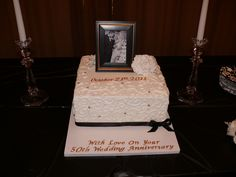 50 Wedding Anniversary Cake  made at All Things Cake in Tulsa...was sooo good!