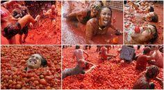 1) LA TOMATINA-Esta fiesta para todos los públicos se celebrada el último miércoles de cada mes de agosto en la localidad de Buñol (Valencia) desde hace 60 años. En la fiesta de La Tomatina miles de visitantes (nacionales e internacionales) se lanzan tomates en plena calle llegándose a arrojar más de 100 toneladas de esta fruta. Tal es la repercusión de dicha fiesta que es imitada y celebrada en diferentes países del mundo. https://youtu.be/9bMlOfk7zrg