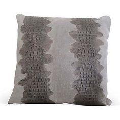 Croc 12x18 Suede Pillow, Brown | One Kings Lane