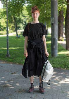 """""""I´m inspired by weird materials and fabrics that are almost unpractical. I like to combine those pieces with very basic outfits. Usually I wear lots of layers and anything that I feel comfortable in."""""""