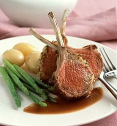 Rack of Lamb with a Herb Crust,Marsala and Redcurrant Sauce