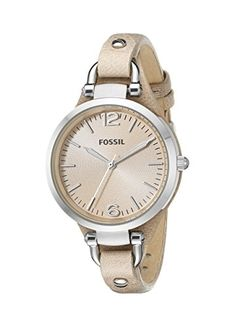Fossil Women ES2830 Georgia Stainless Steel Watch with Leather Band Fossil http://www.amazon.com/dp/B004NBZ5KM/ref=cm_sw_r_pi_dp_Te0Kvb0629RCR