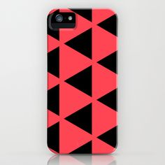 Sleyer Black on Pink Pattern #iPhone5 Case by Stoflab - $35.00