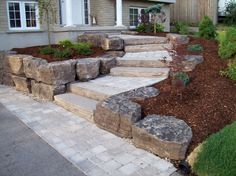 Front walkway and stairs