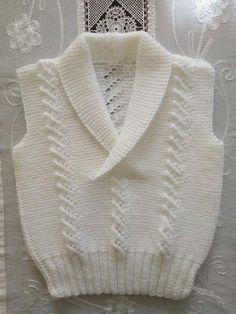 Baby Boy Crochet Blanket Pattern Kids 42 Ideas For 2019 Knitting Patterns Boys, Knitting For Kids, Knitting Designs, Baby Patterns, Baby Boy Sweater, Baby Vest, Baby Sweaters, Diy Crafts Knitting, Knitting Blogs
