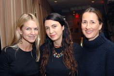 Crystal Lourd, Shiva Rose and Anna Getty enjoying cocktails at the Devi Kroell SS13 Collection dinner