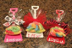Single Purchase Valentine Party Favor Shovels with gummy by DeCoop, $2.00. Deadline for orders is Friday, January 27th!