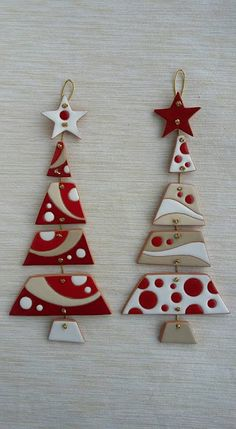 - Nothing sweeter - Inkspired Treasures - Crafts with clay - . - – Nothing sweeter – Inkspired Treasures – Crafts with clay – # - Ceramic Christmas Decorations, Diy Christmas Ornaments, Handmade Christmas, Christmas Tree Decorations, Red Ornaments, Ceramic Christmas Trees, Dough Ornaments, Polymer Clay Christmas, Polymer Clay Crafts