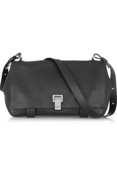 Proenza Schouler PS Courier textured-leather shoulder bag | NET-A-PORTER