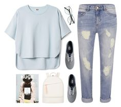 """""""I didn't pay attention to the light in the dark"""" by intanology ❤ liked on Polyvore featuring VILA, Vans and Want Les Essentiels de la Vie"""