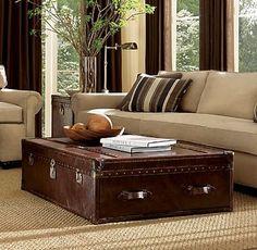 living room steamer trunk