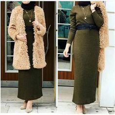 Teddy bear coats with hijab style – Just Trendy Girls Muslim Fashion, Modest Fashion, Hijab Fashion, New Fashion, Winter Fashion, Fashion Outfits, Hijab Dress, Hijab Outfit, Modest Outfits Muslim