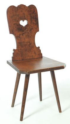 IMAGE: A plank chair or bretstuhl from Zoar, Ohio, mid 19th century