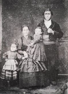 Familia de asturianos, 1850