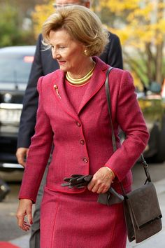 10/14/14. Queen Sonja of Norway visits the Munch Museum..
