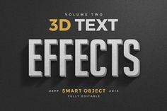 3D Text Effects Vol.2 by Zeppelin Graphics on Creative Market
