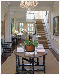 LUCY WILLIAMS INTERIOR DESIGN BLOG: MY VIRGINIA FARM HOUSE. Note center hallway that runs entire depth of house.