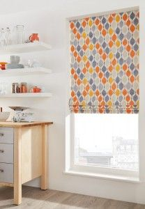 Our Funky Orange Roman blind will make a real statement at your window - team with orange accessories for a contemporary look. #home #interior #window #blind #blinds #Roman For more statement wall vs statement window ideas, visit our blog post - http://www.blinds-supermarket.co.uk/blog/2015/01/statement-walls-vs-statement-windows/