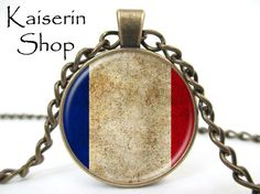 International Flag Necklace, Map Necklace, Pendant, Charm, Jewelry by KaiserinShop on Etsy