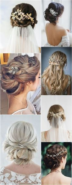 Wedding Hairstyles Hair Comes the Bride – 20 Bridal Hair Accessories Get Style Advice for Any Budget � See more: http://www.weddinginclude.com/2017/03/hair-comes-the-bride-bridal-hair-accessories-get-style-advice-for-any- #weddinghairstyles