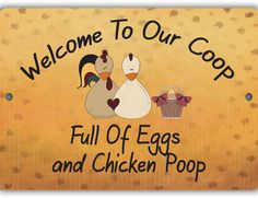 Eggs and Chicken Poop Sign - Louise's Country Closet