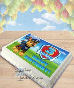 Paw Patrol CHOOSE DOG Edible Image Cake Topper [SHEET]