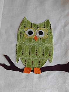 Owl Appliqué Tutorial with printable Template