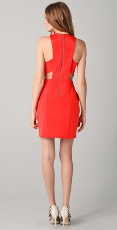 e125ec13bd7 Dion Lee Silk Form External Pleat Dress in Vermillion Dion Lee