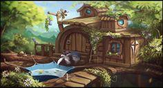 ArtStation - Raccoon house, ilia gogolin