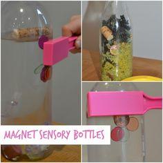 Easy pirate themed sensory magnet bottles