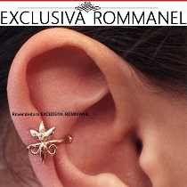 Rommanel Brinco Ear Cuff Flor Lis Giovanna Antonelli 525380