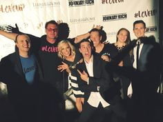 """The crew at the #LoveUp after party!  Happy to be a part of an event that is going to help so many others and happy to be a part of this team!"""