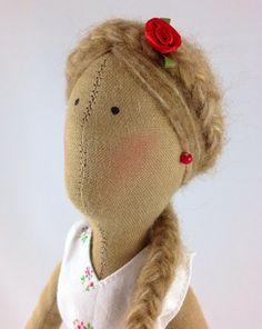 """Handemade Doll """"Late Summer Girl"""" by Puppenmanufaktur on Etsy -  Handgemachte Puppe aus Stoff"""