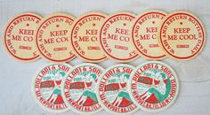 1950s vintage farm fresh dairy pasteurized milk caps
