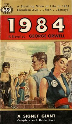 1984: James Orwell  This book is absolutely brilliant and, not surprisingly, timeless.  The subtle truths behind the story are eerie once the reader begins to realize them.